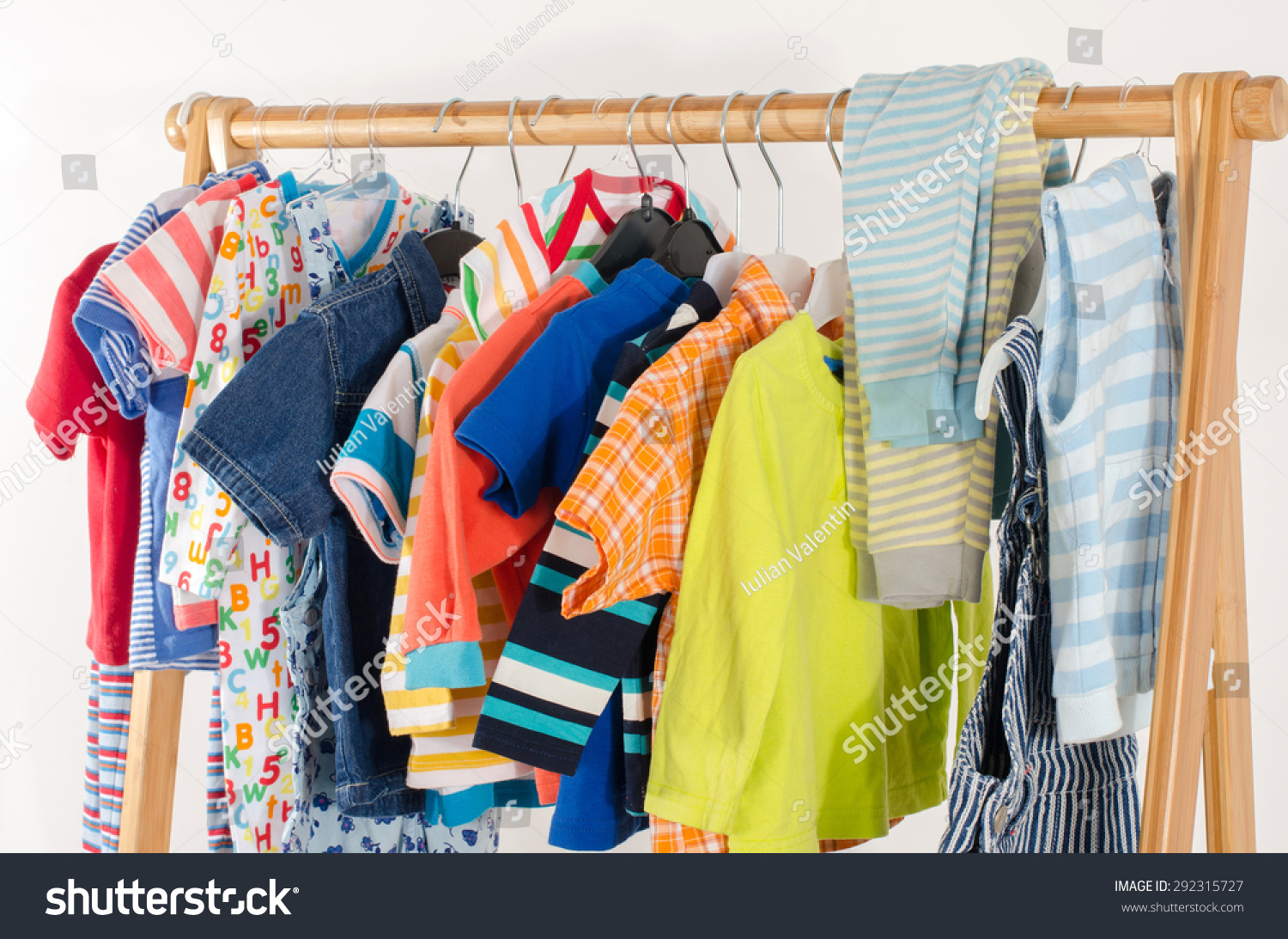 39a9e95eb Dressing Closet Clothes Arranged On Hangerscolorful Stock Photo ...