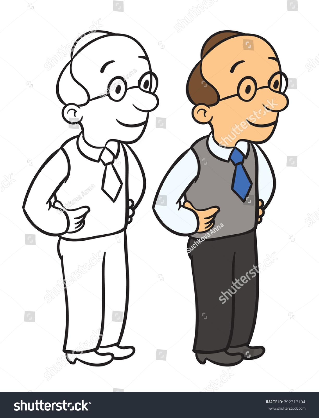 male office clerk cartoon comic office stock vector  male office clerk cartoon comic office worker vector illustration