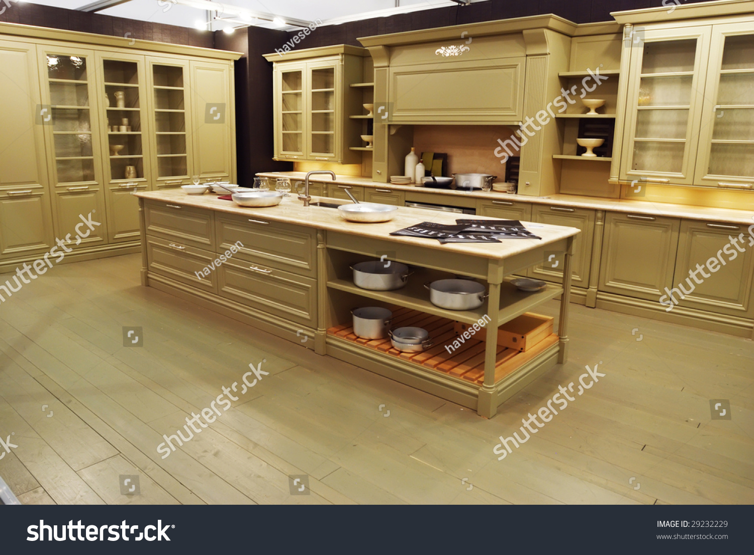 Old Fashioned Kitchen Classic Old Fashioned Kitchen Interior Stock Photo 29232229