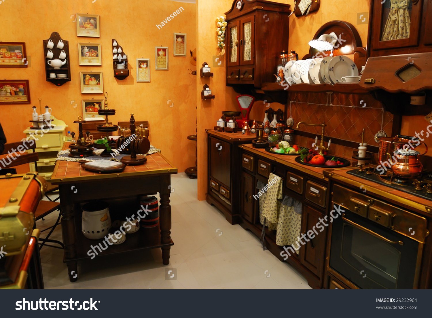Old Fashioned Kitchen Classic Old Fashioned Kitchen Interior Stock Photo 29232964