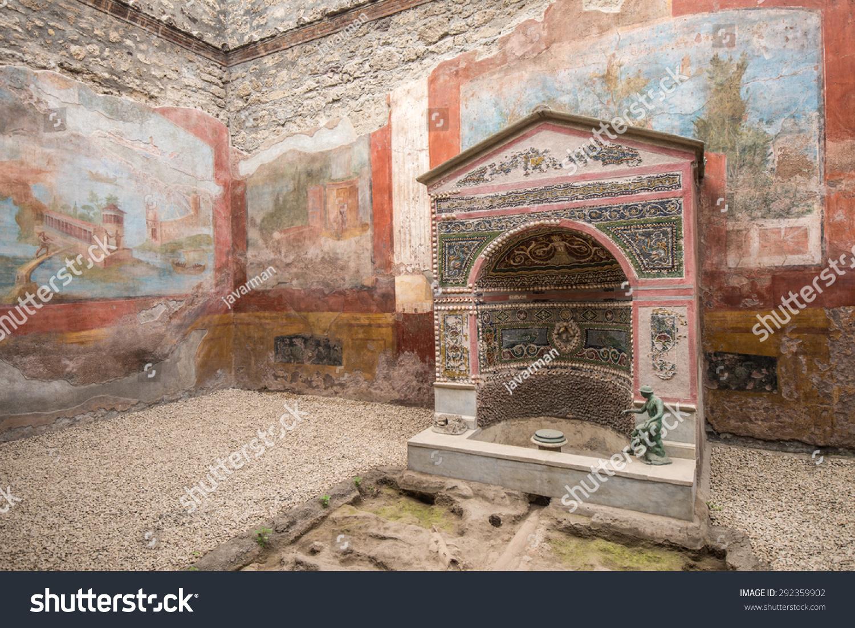 Interior of casa della fontana piccola pompeii italy for Foto della piccola casa