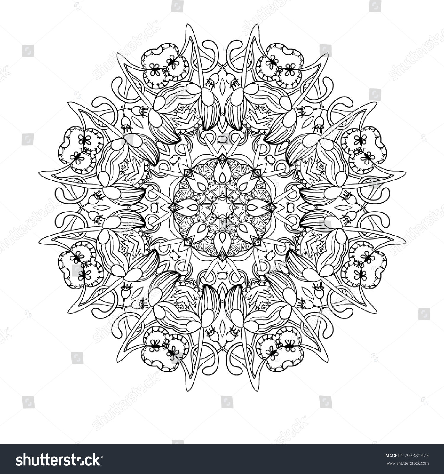 mandala round ornament pattern vector can be used for wallpaper
