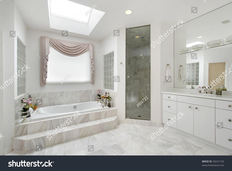 White Luxury Master Bath Stock Photo & Image (Royalty-Free) 29241103 ...