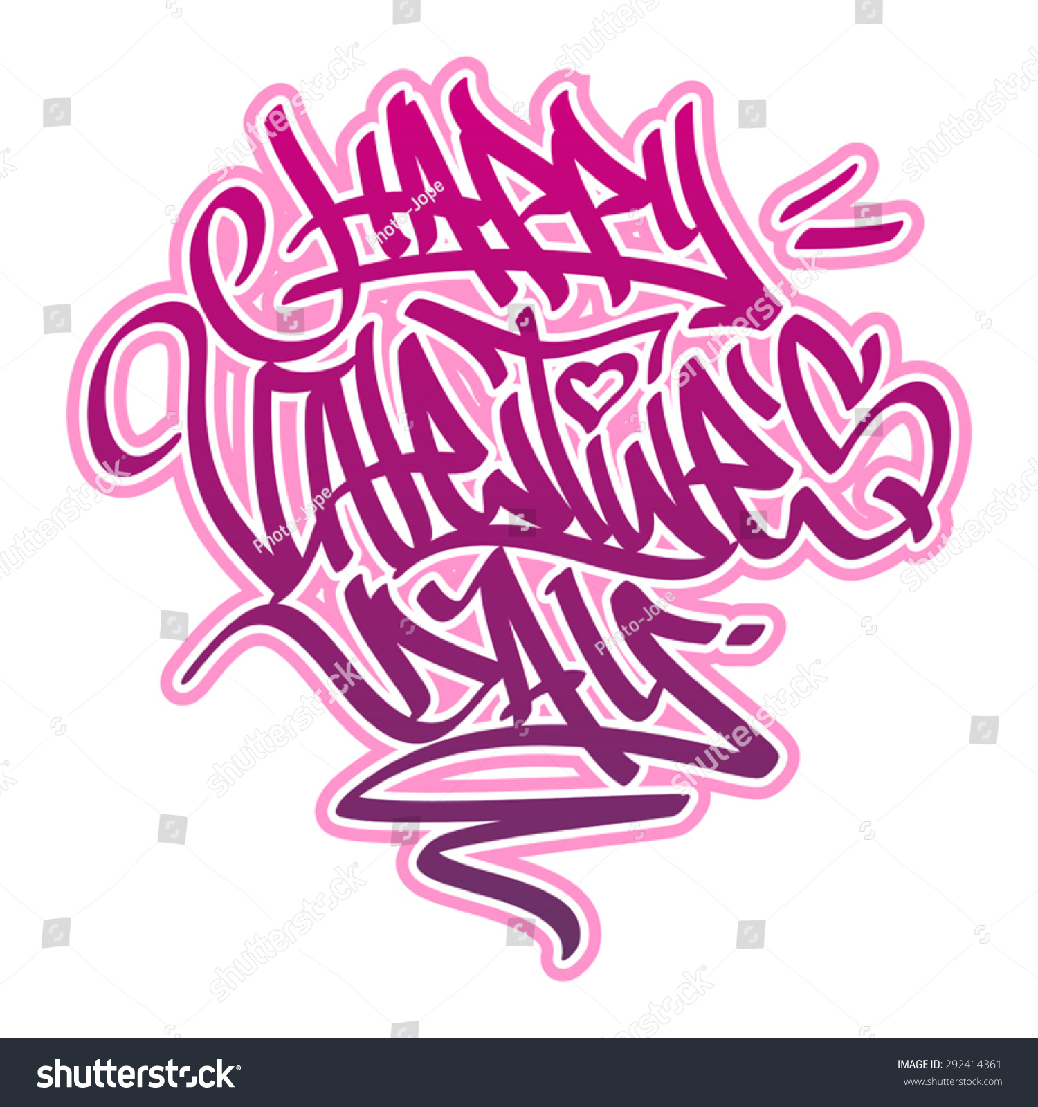 Happy Day Card Graffiti Style Pink Stock Vector (Royalty Free ...