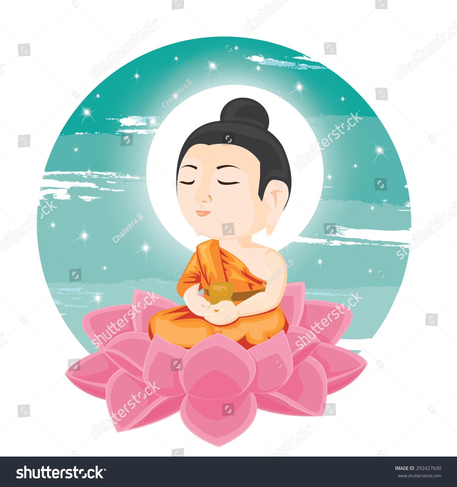Illustration buddha sitting on lotus flower stock vector 292427690 buddha sitting on lotus flower dhlflorist Choice Image