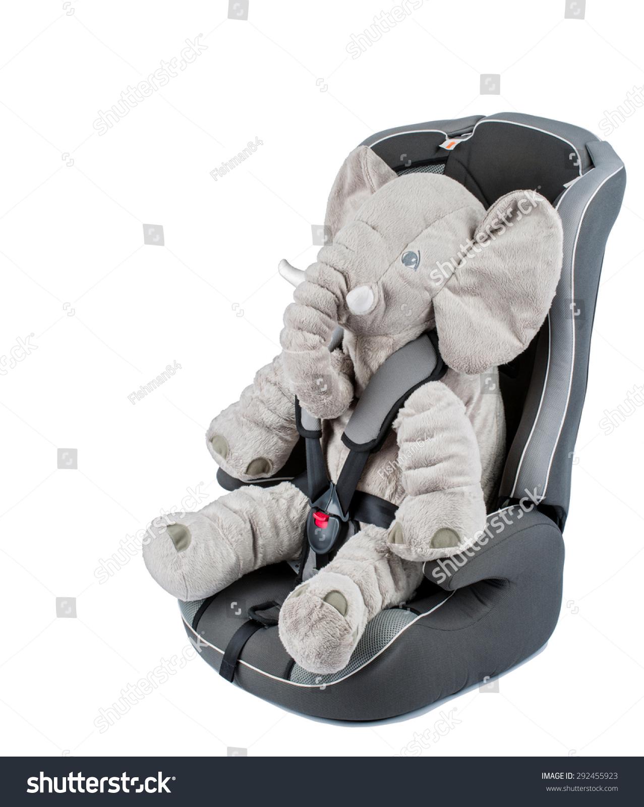 Baby Car Seat Gray Elephant