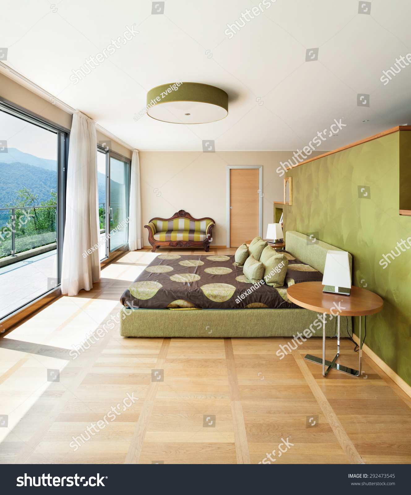 Interior Modern Apartment Furnished Comfortable Bedroom