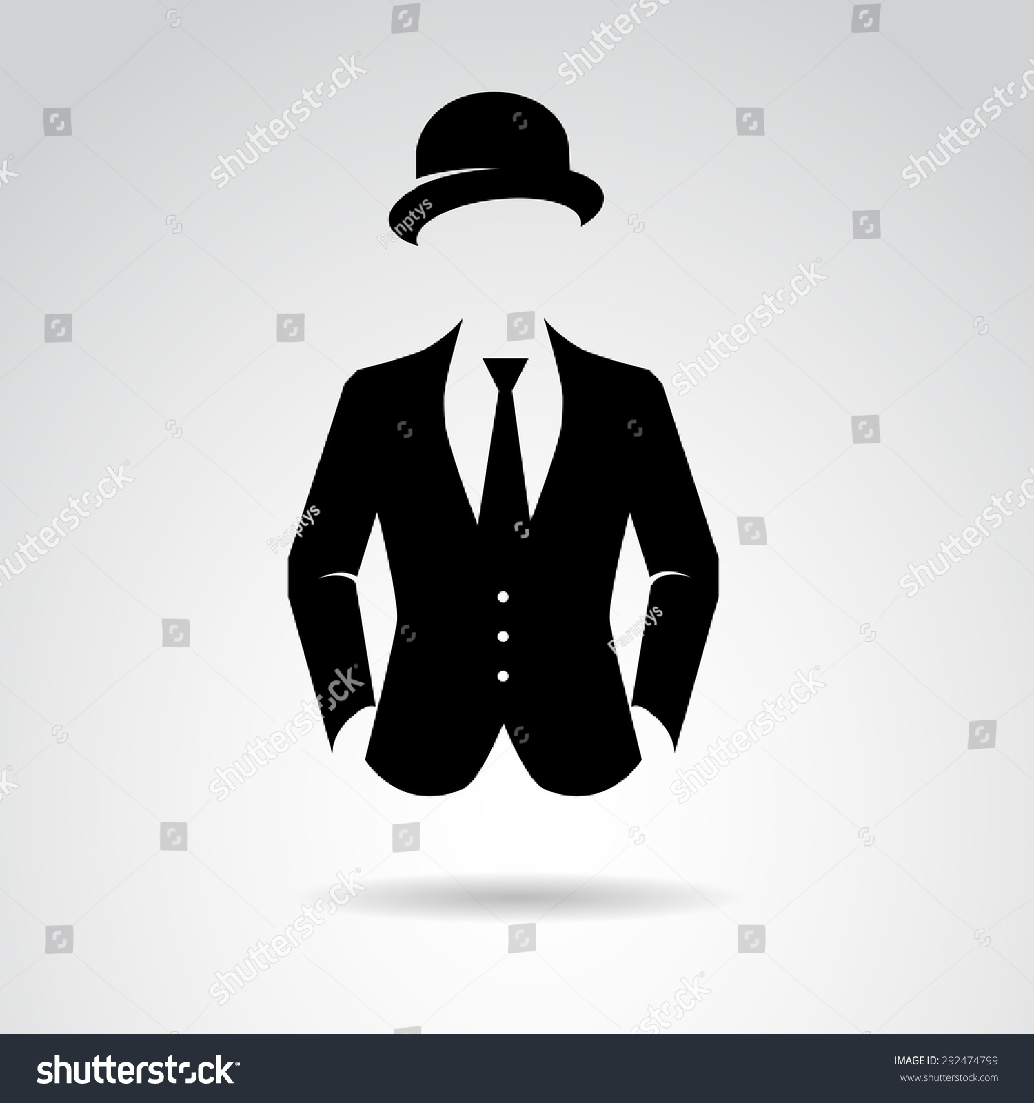 Suit icon isolated on white background stock vector 292474799 suit icon isolated on white background vector art publicscrutiny Gallery