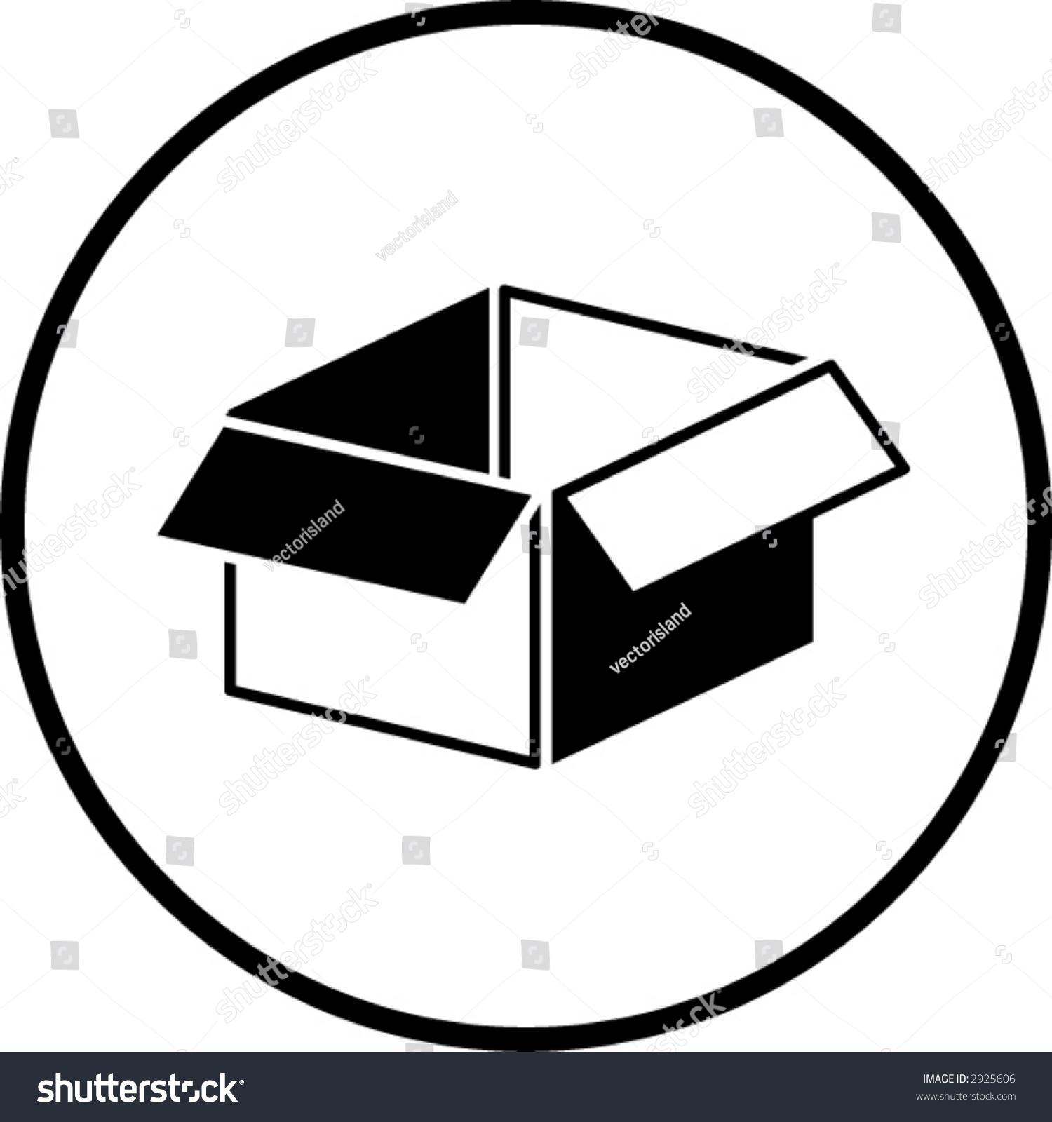 Open Box Symbol Stock Vector Illustration 2925606