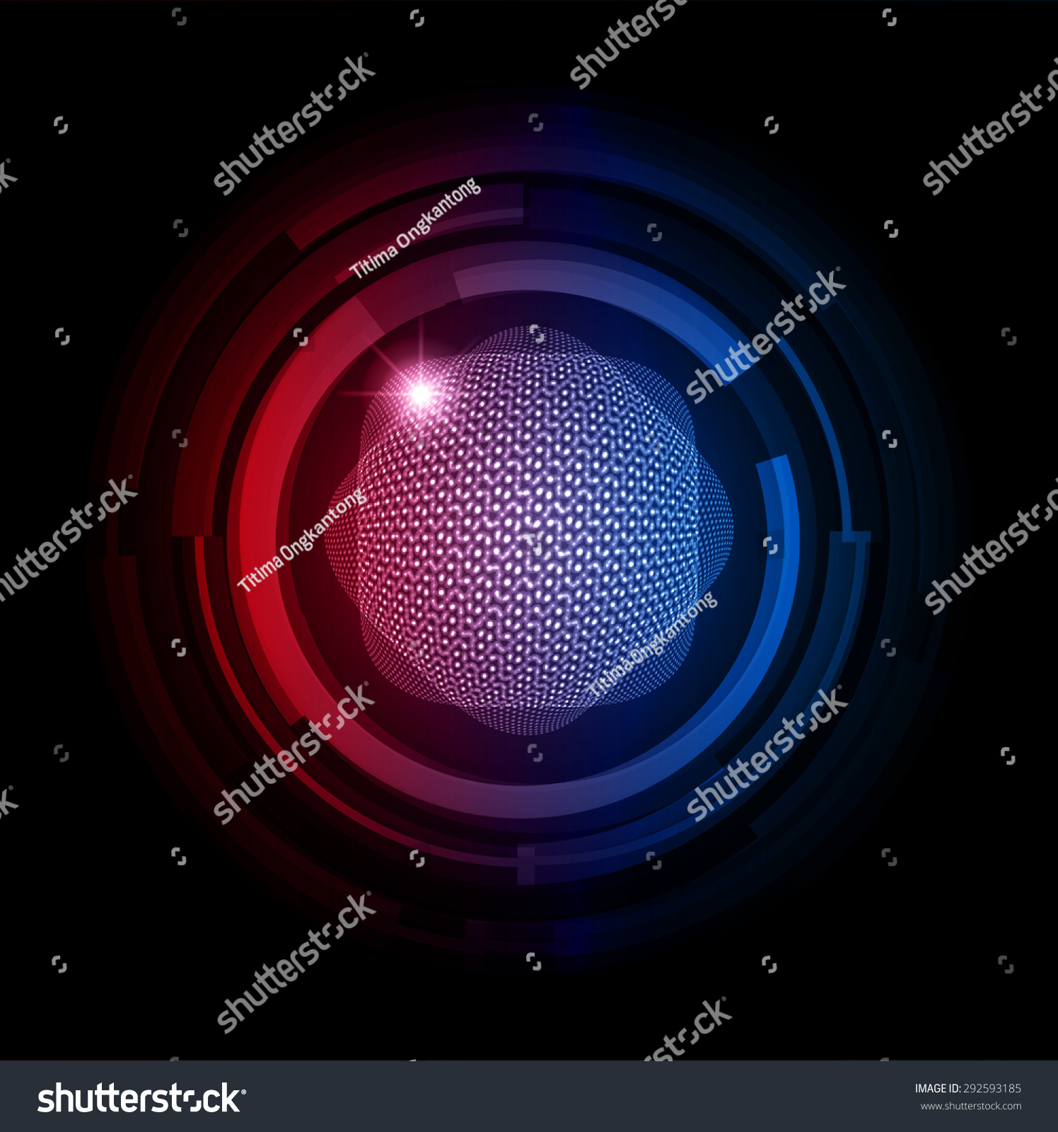 Dark Red Blue Color Light Abstract Stock Vector 292593185