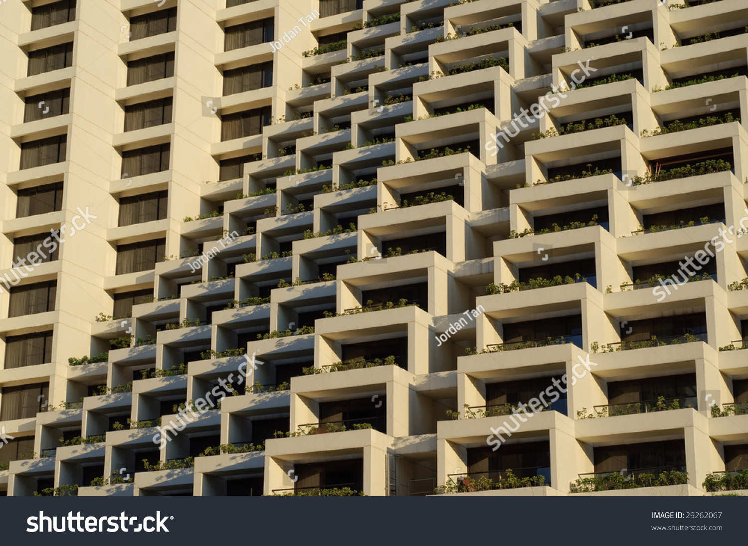 Modern hotel with zigzag steps design stock photo 29262067 for Design hotel few steps from the david