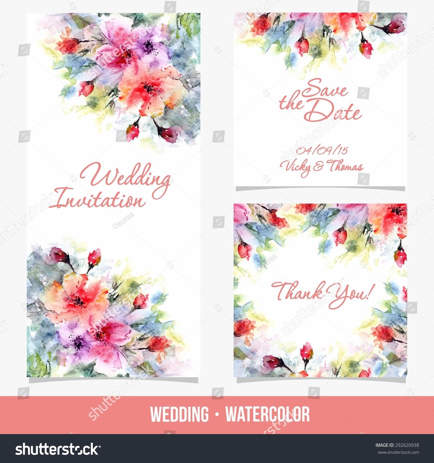 Invitation Wedding Card Save Date Card Stock Vector