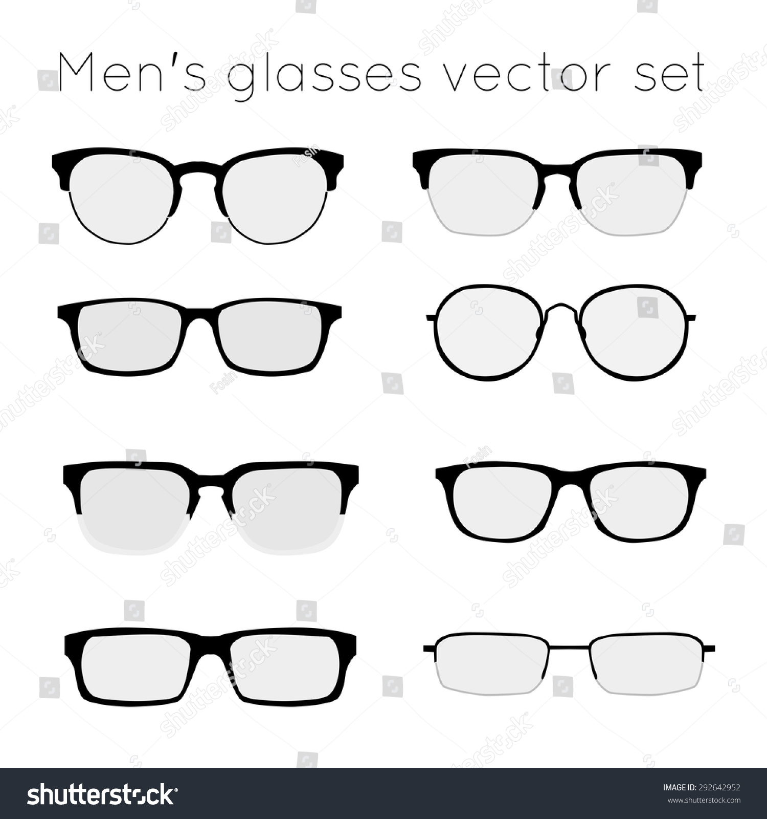 Royalty-free Vector set of different glasses on… #292642952 Stock ...