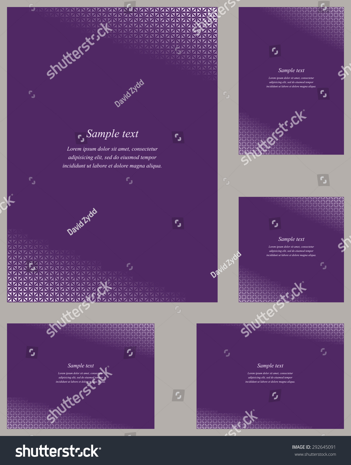 orchid page corner design template invitation stock vector royalty