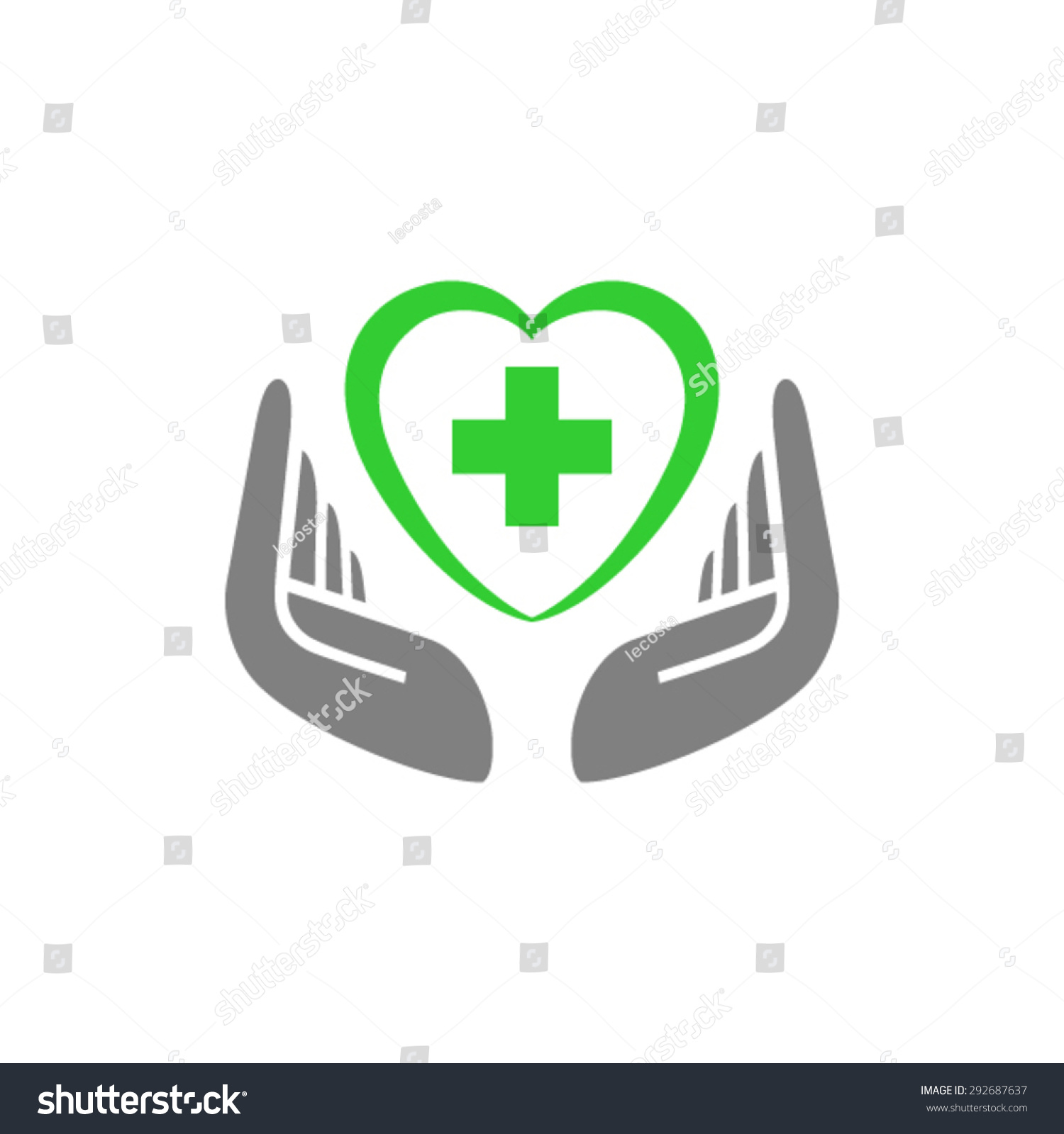 hands holding heart with cross medical pharmacy logo