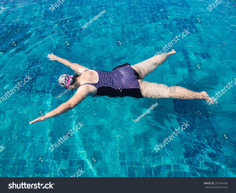 Fat Woman Swimming 25