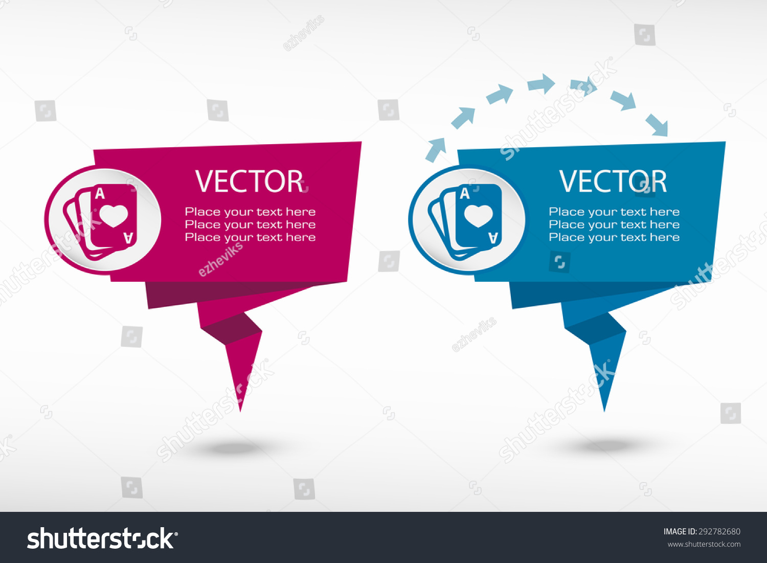 Game cards icon on origami paper stock vector 292782680 shutterstock game cards icon on origami paper speech bubble or web banner prints vector illustration jeuxipadfo Images