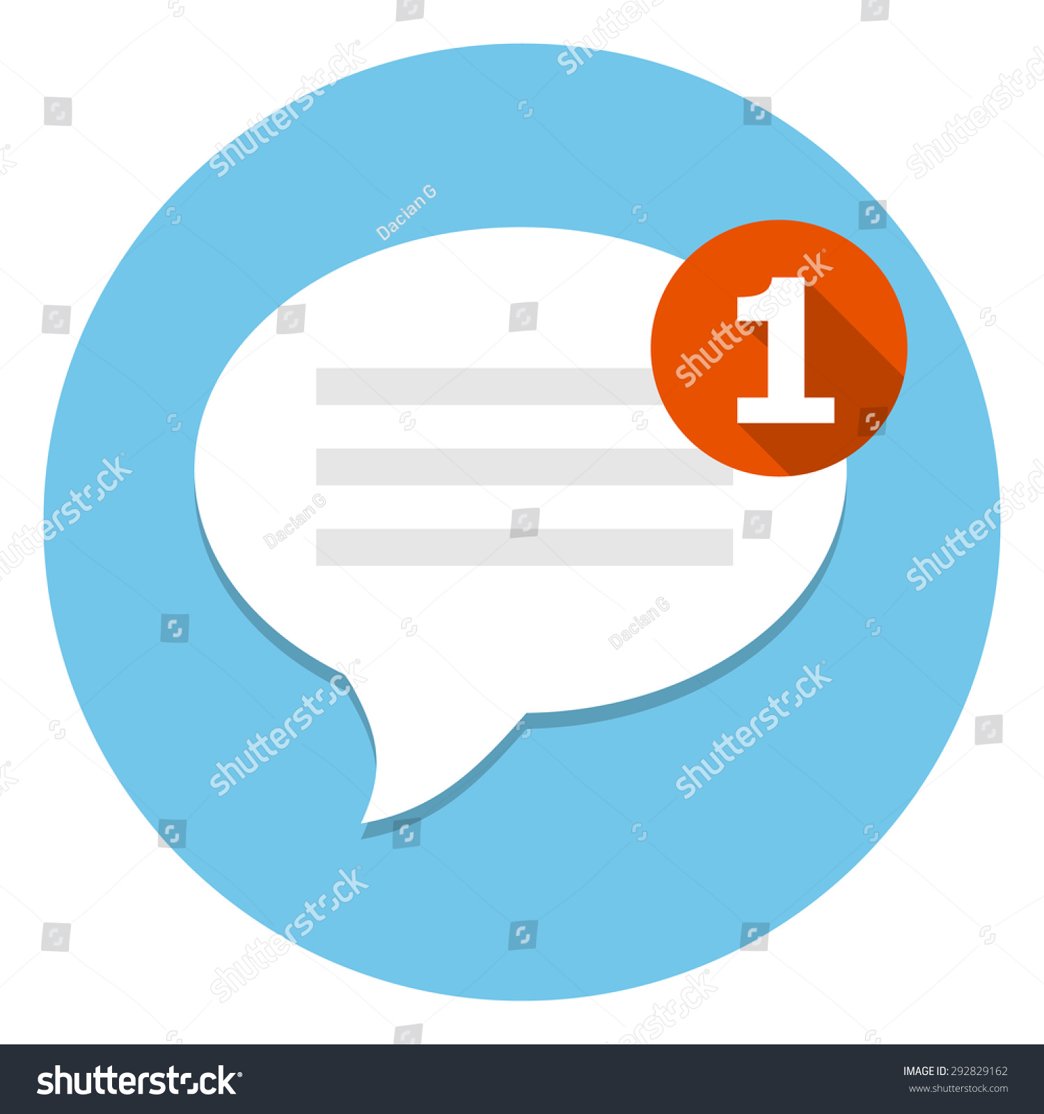 new message icon stock vector 292829162 shutterstock