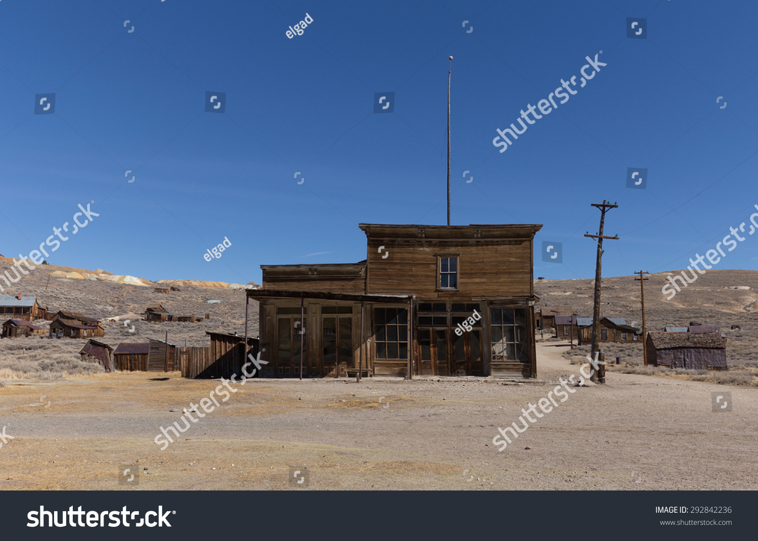Bodie ca usa march 2015 abandoned stock photo 292842236 for Rustic hotels near me