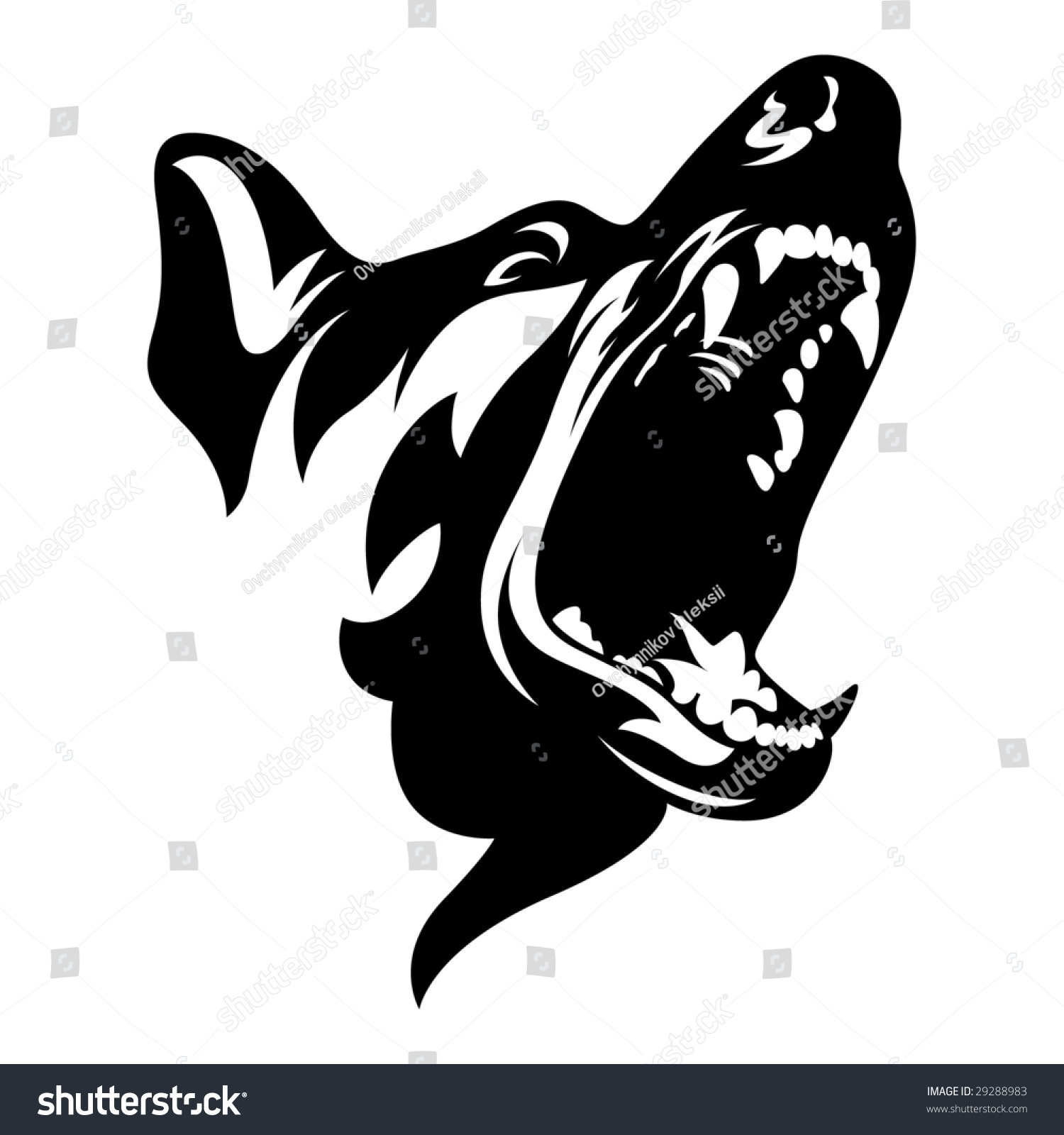 Dog Stock Vector Illustration 29288983 Shutterstock