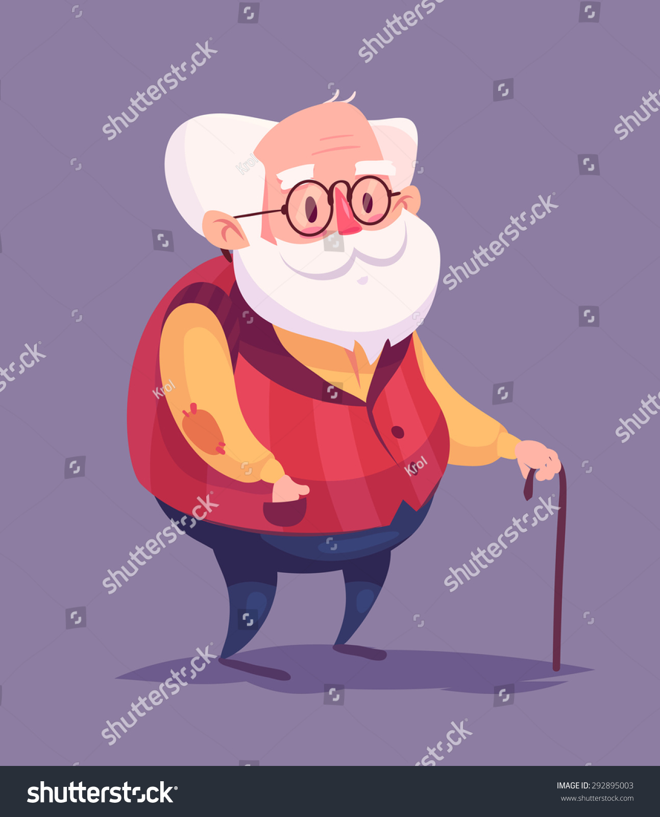 Cartoon Characters Old Man : Funny illustration old man cartoon character stock vector
