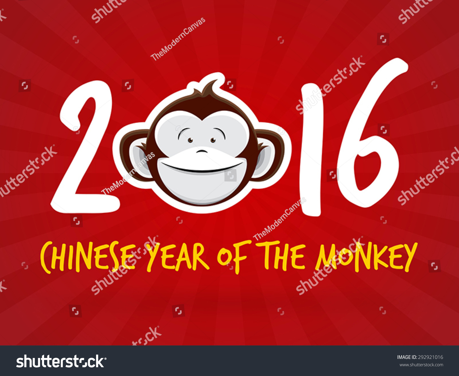 2016 chinese new year year of the monkey vector banner design - Chinese New Year Year Of The Monkey