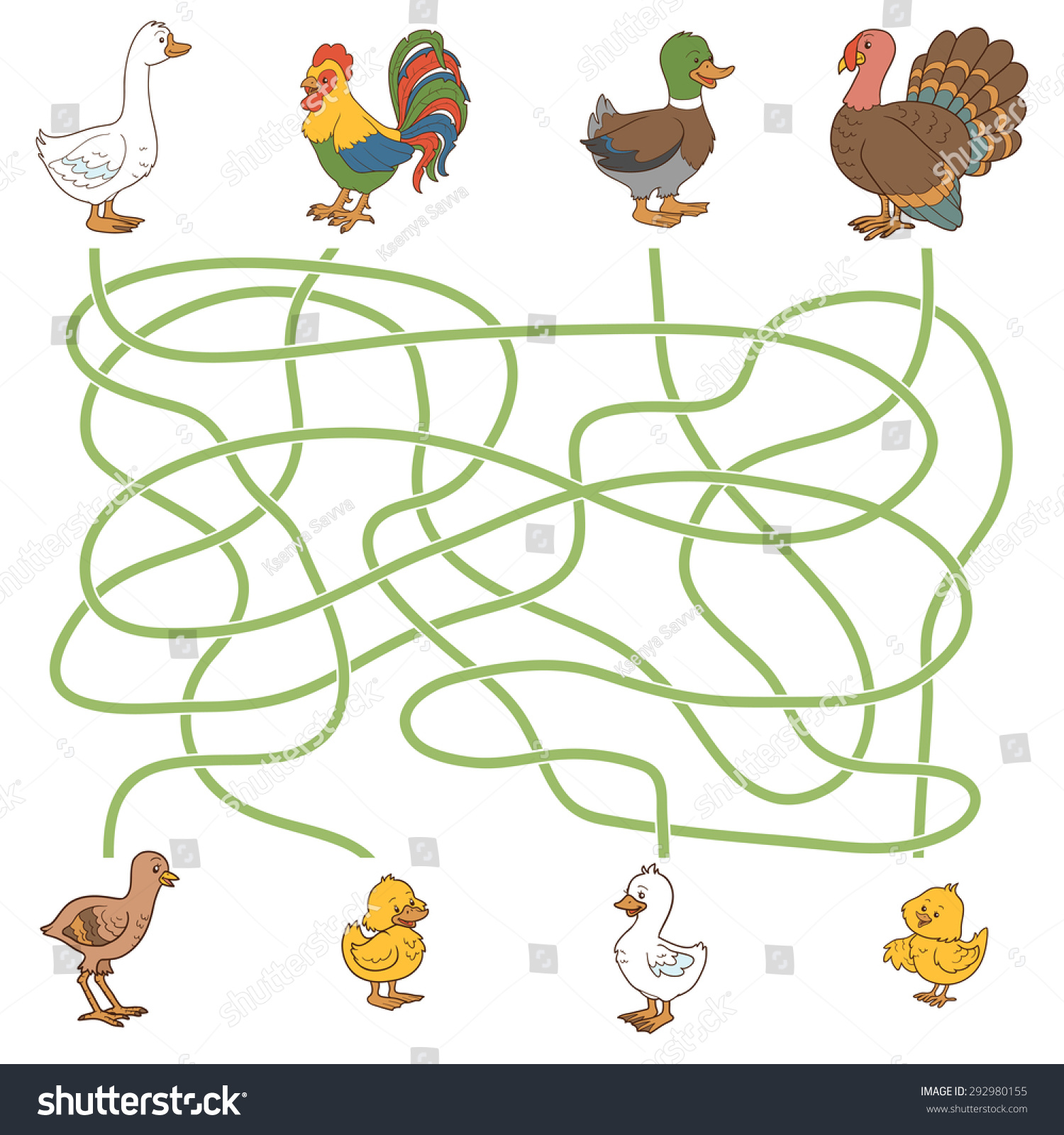Maze Game Help Young Find Their Stock Vector (Royalty Free