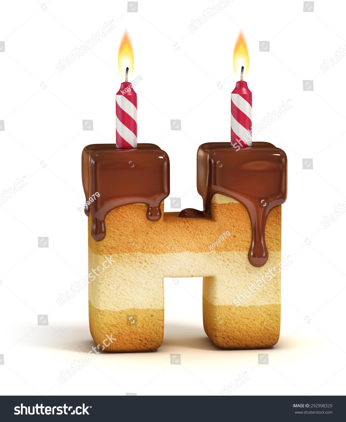 Birthday Cake Font Letter H Stock Illustration 292998329 Shutterstock