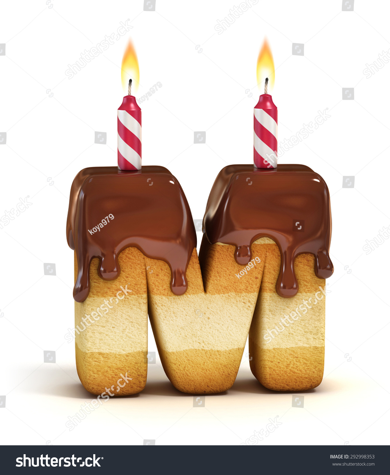 Birthday Cake Font Letter M Stock Illustration 292998353 Shutterstock