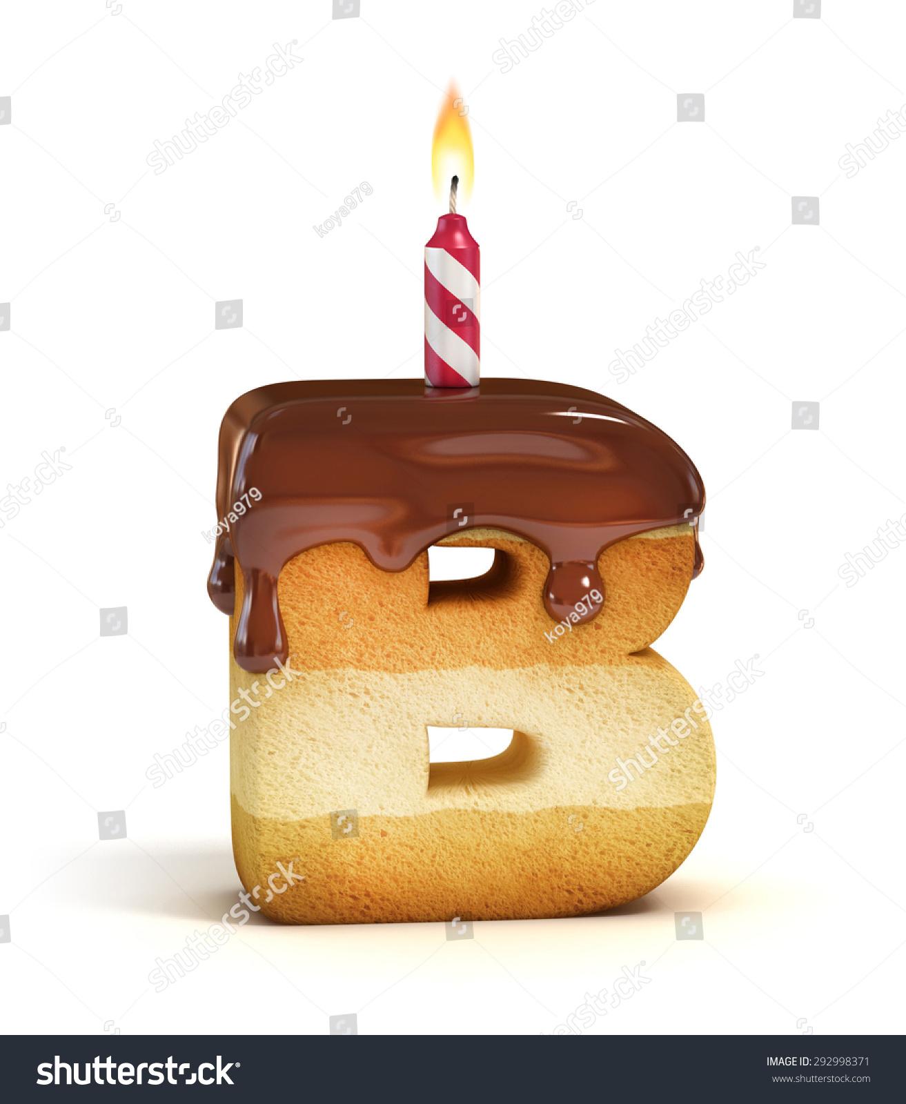 birthday cake font letter b 292998371