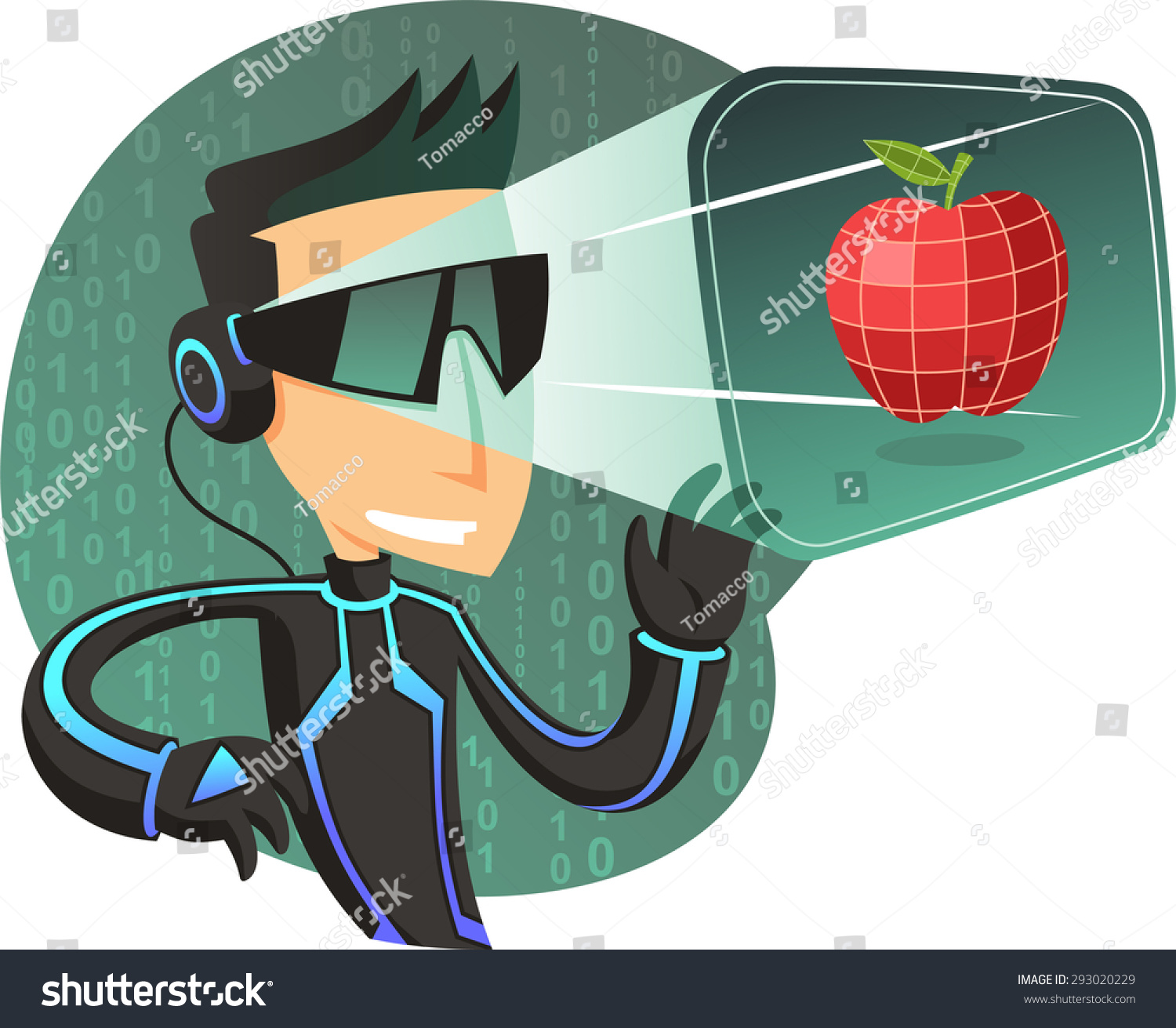 Collection Of Simulator Clipart: Virtual Reality Simulator Headset, Vector Illustration