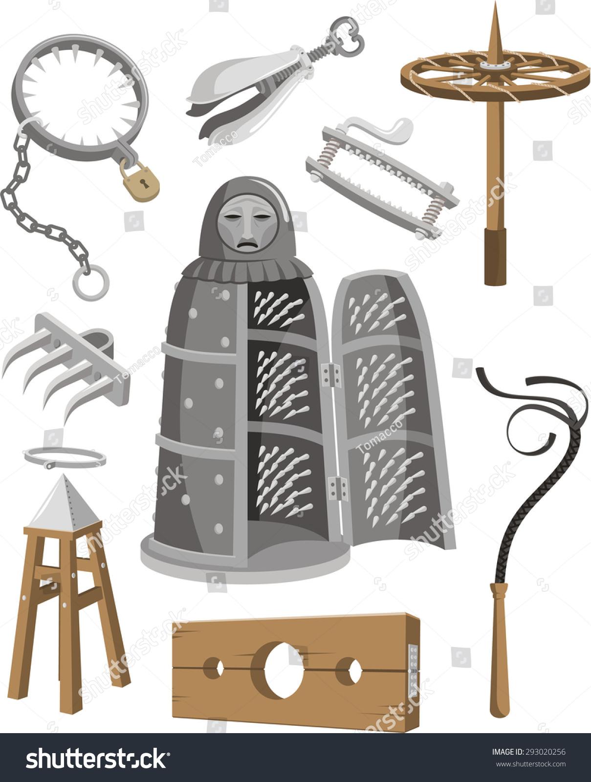 Medieval torture tools set vector cartoon stock vector 293020256 shutterstock - Clipart tortue ...
