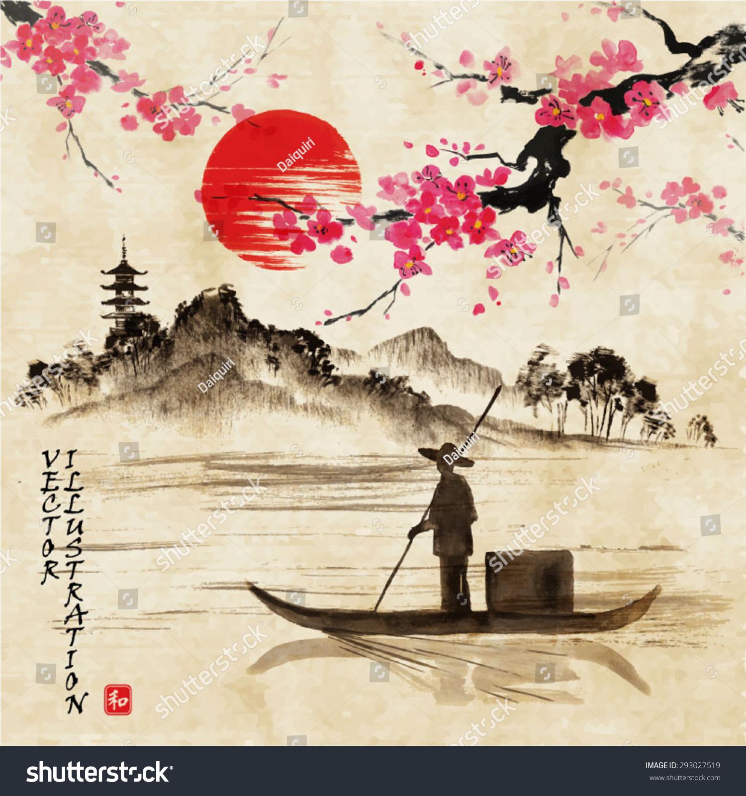 Sakura - Antique China, Antique