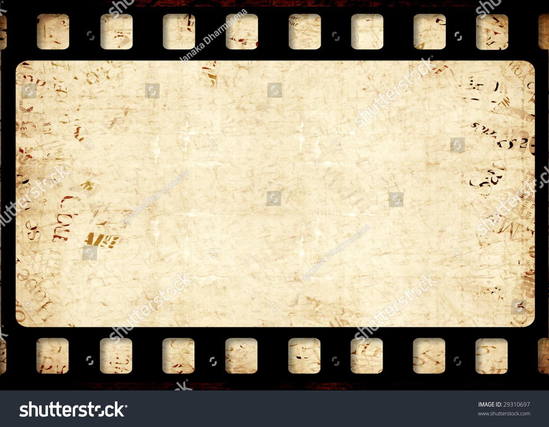 Old 35 Mm Movie Film Reel Stockillustration 29310697 Shutterstock