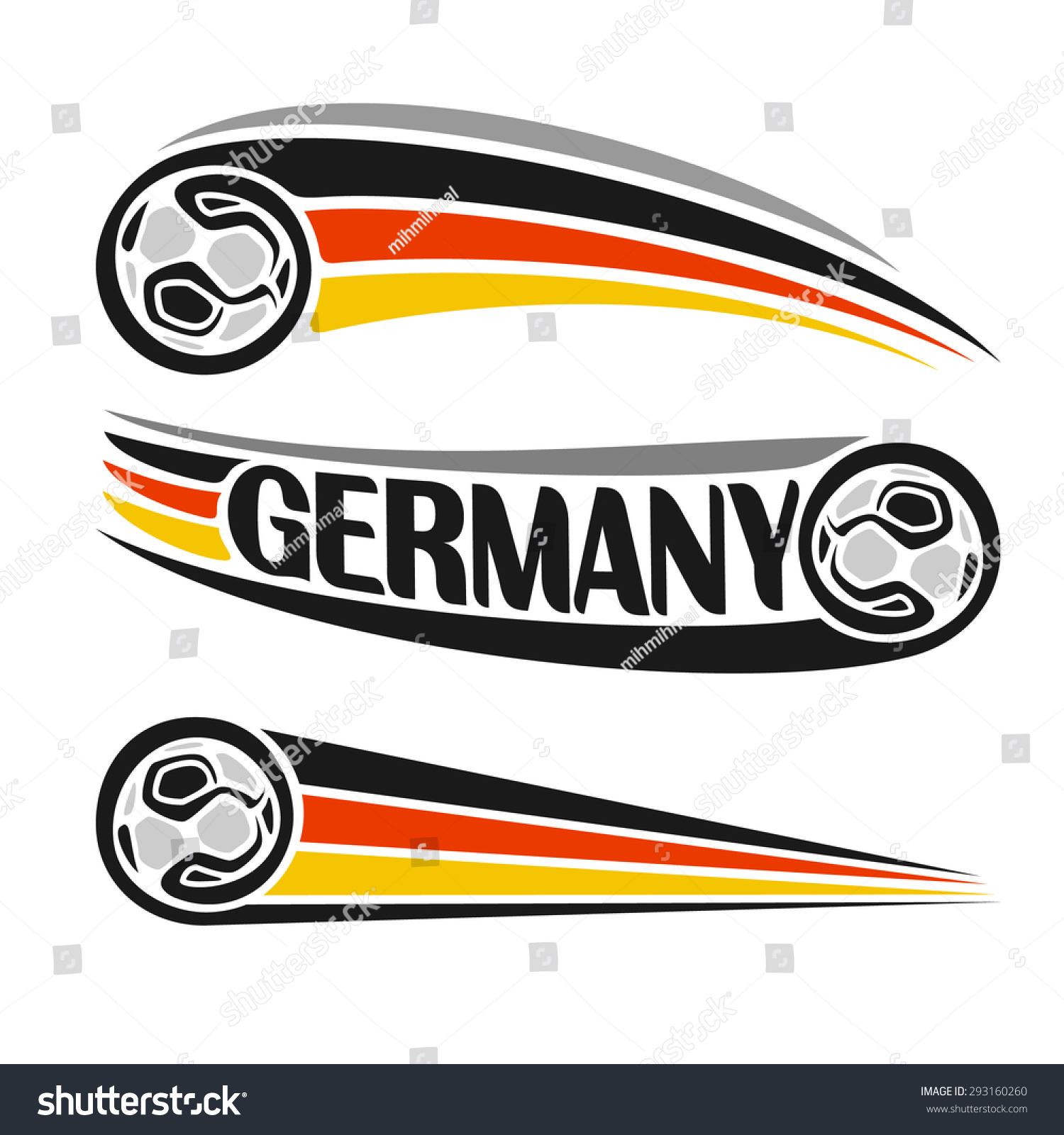 Vector Illustration Logo German Football Consisting Stock Vector