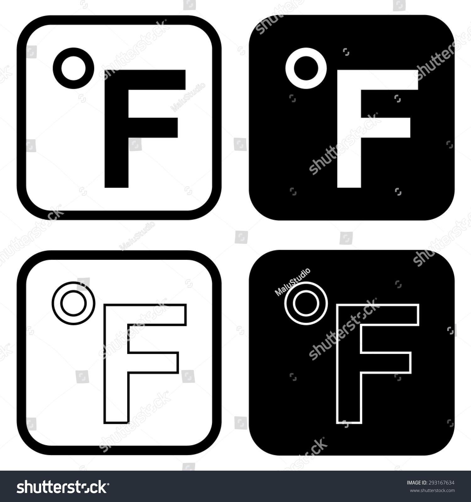 Fahrenheit icon stock vector 293167634 shutterstock fahrenheit icon biocorpaavc Choice Image