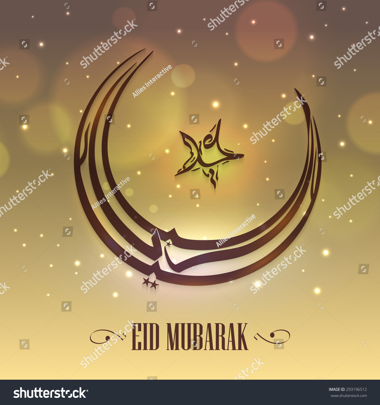 Arabic islamic calligraphy text eid mubarak stock vector 293196512 arabic islamic calligraphy of text eid mubarak in crescent moon and star shape on shiny background biocorpaavc Gallery