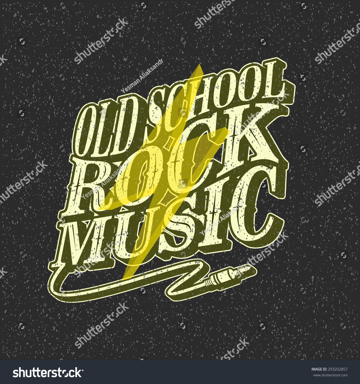 Vector illustration old school rock music stock vector for Schoolhouse music