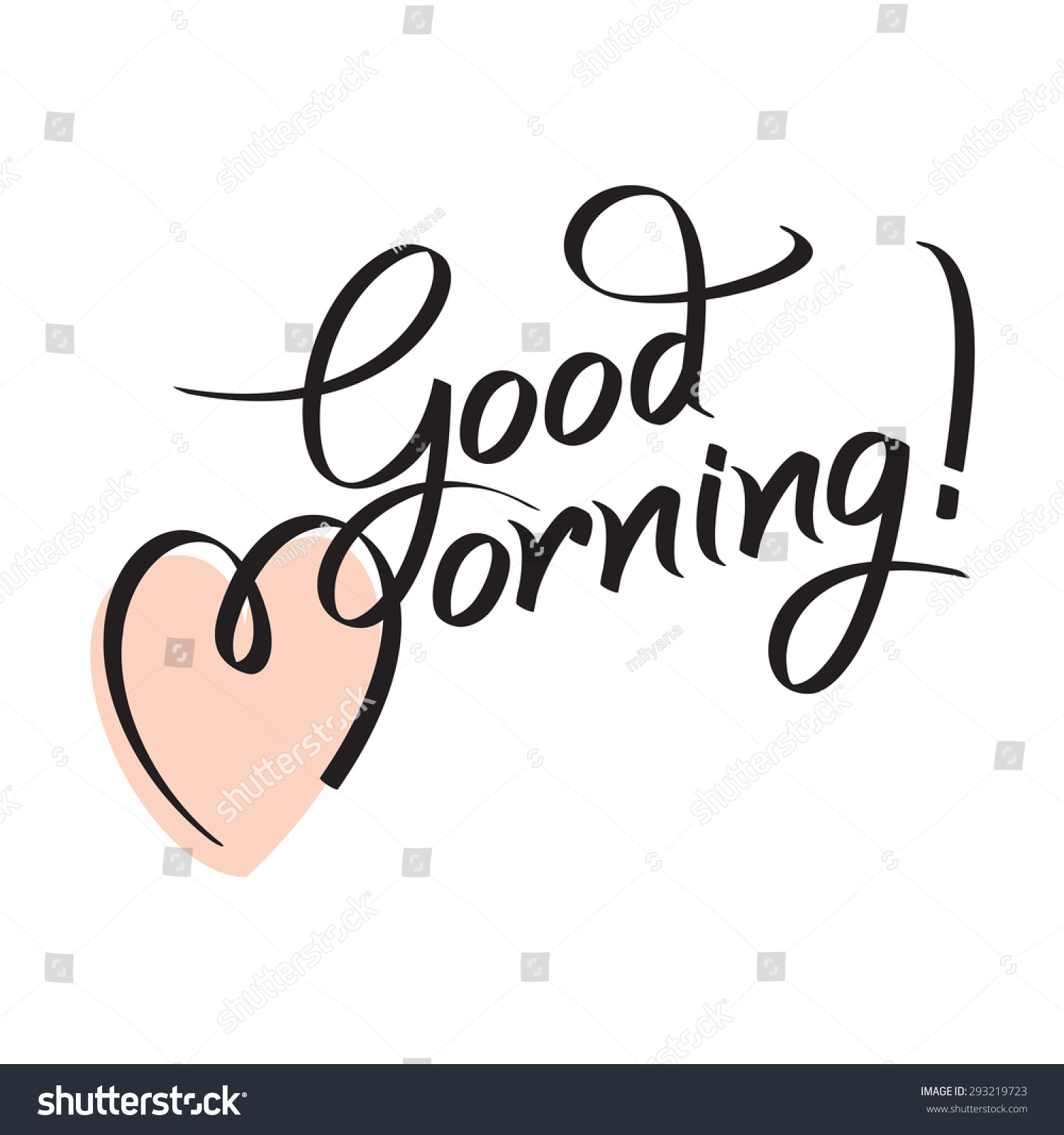 good morning hand lettering text handmade stock vector 2018 rh shutterstock com good morning logo gif good morning logo png