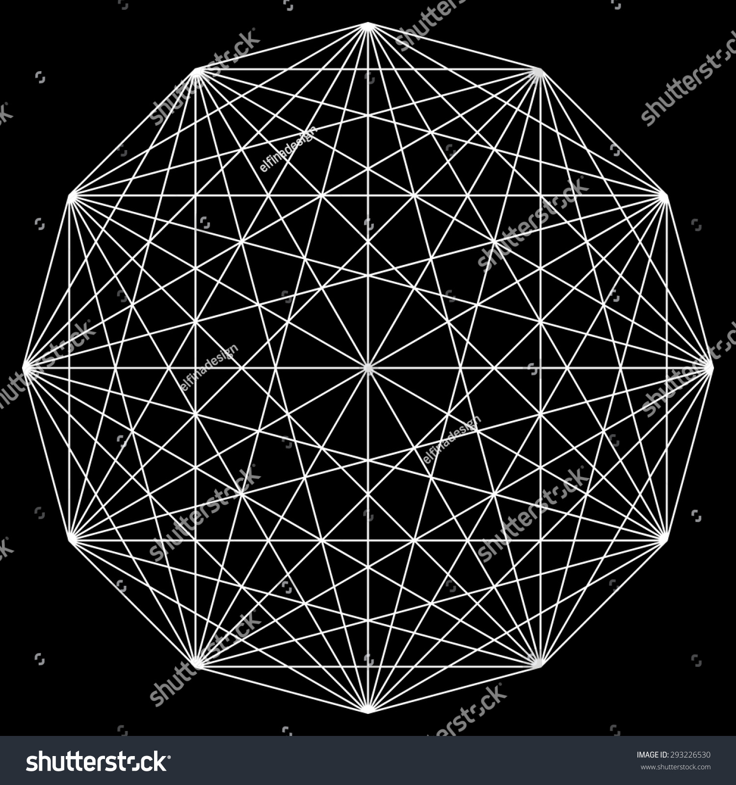 Line Art Design Geometry : Line drawing mandala sacred geometry logo stock vector