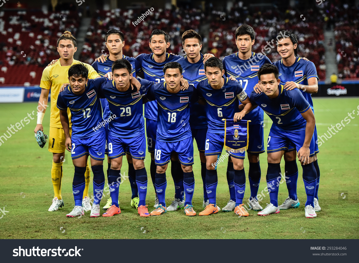 Kallang Singapore JUNE 13 Players Thailand U 23 Shot Stock Photo ... 71a3f8fef