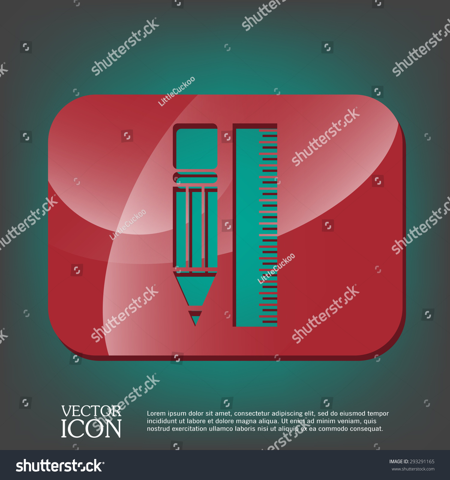 ruler and pencil characters geometry Education sign symbol icon drawing and geometry