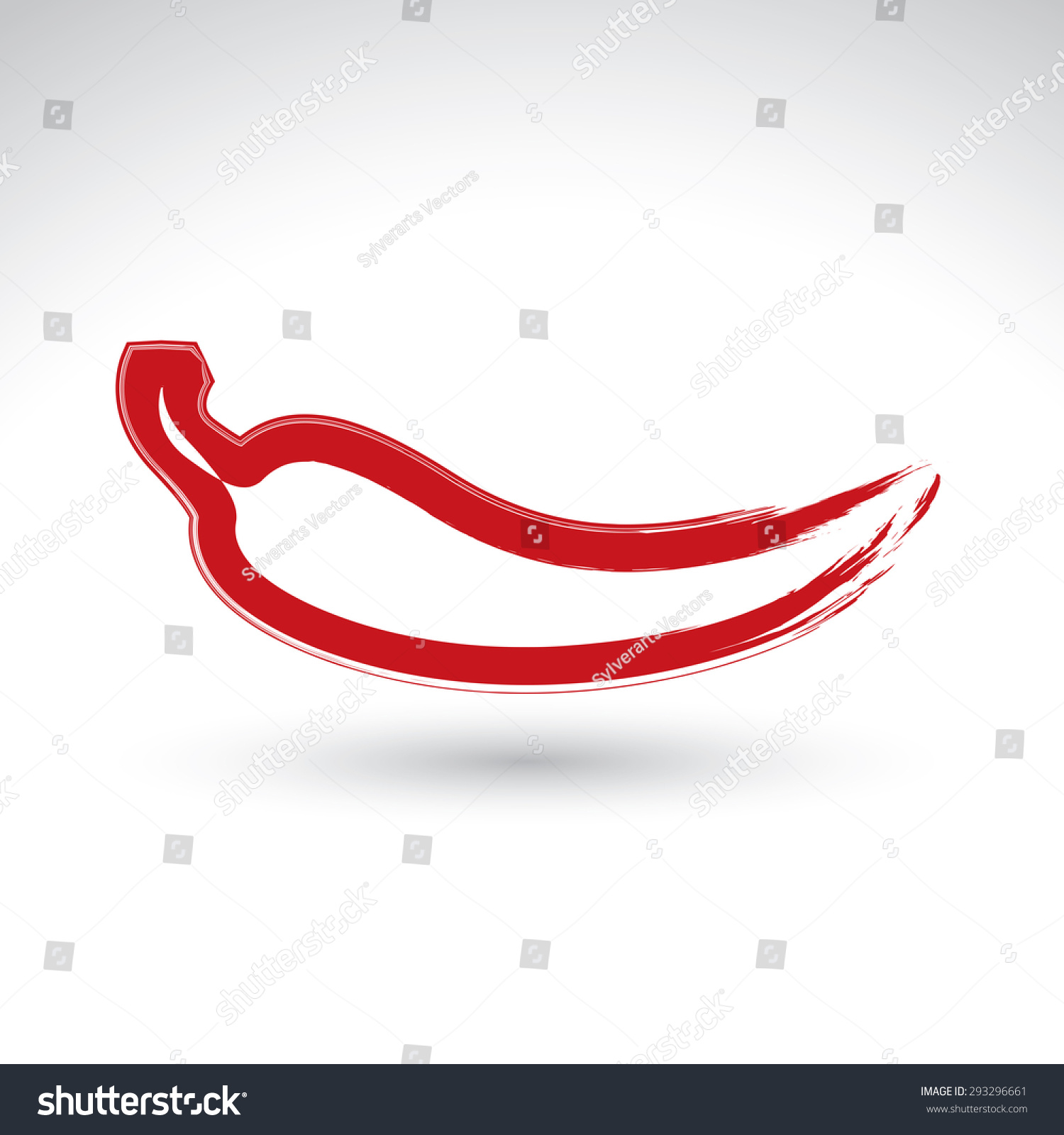 Handpainted simple vector red hot chili stock vector 293296661 hand painted simple vector red hot chili pepper icon isolated on white background mexican biocorpaavc