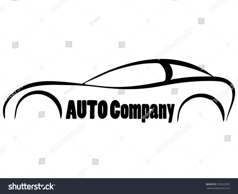 Vector Sport Car Symbol Silhouette Business Stock Vector 293322920