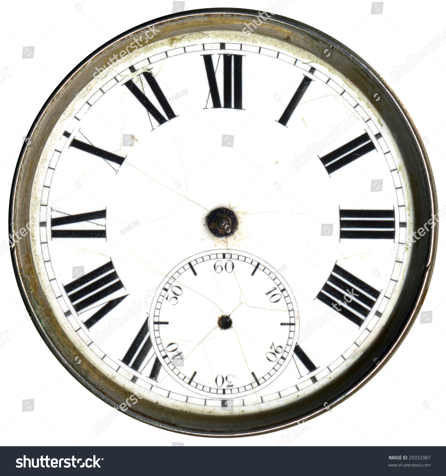 Antique Clock Face Without Hands Stock Photo 29332987 Shutterstock