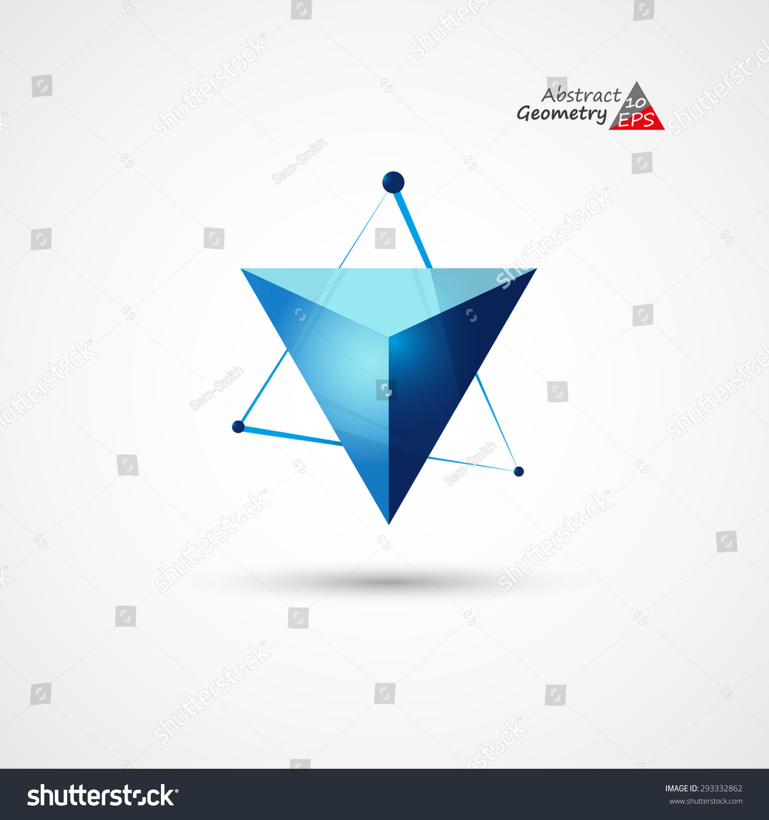 D background images - Abstract Logo Triangle 3 D Background Eps10 Vector Illustration
