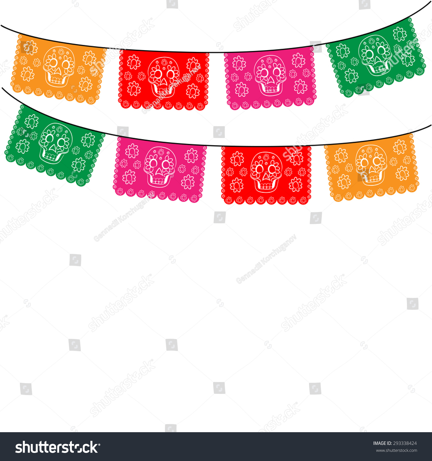 Mexican Banner Mexico Multicolored Template Hanging Stock Vector 293338424 - Shutterstock
