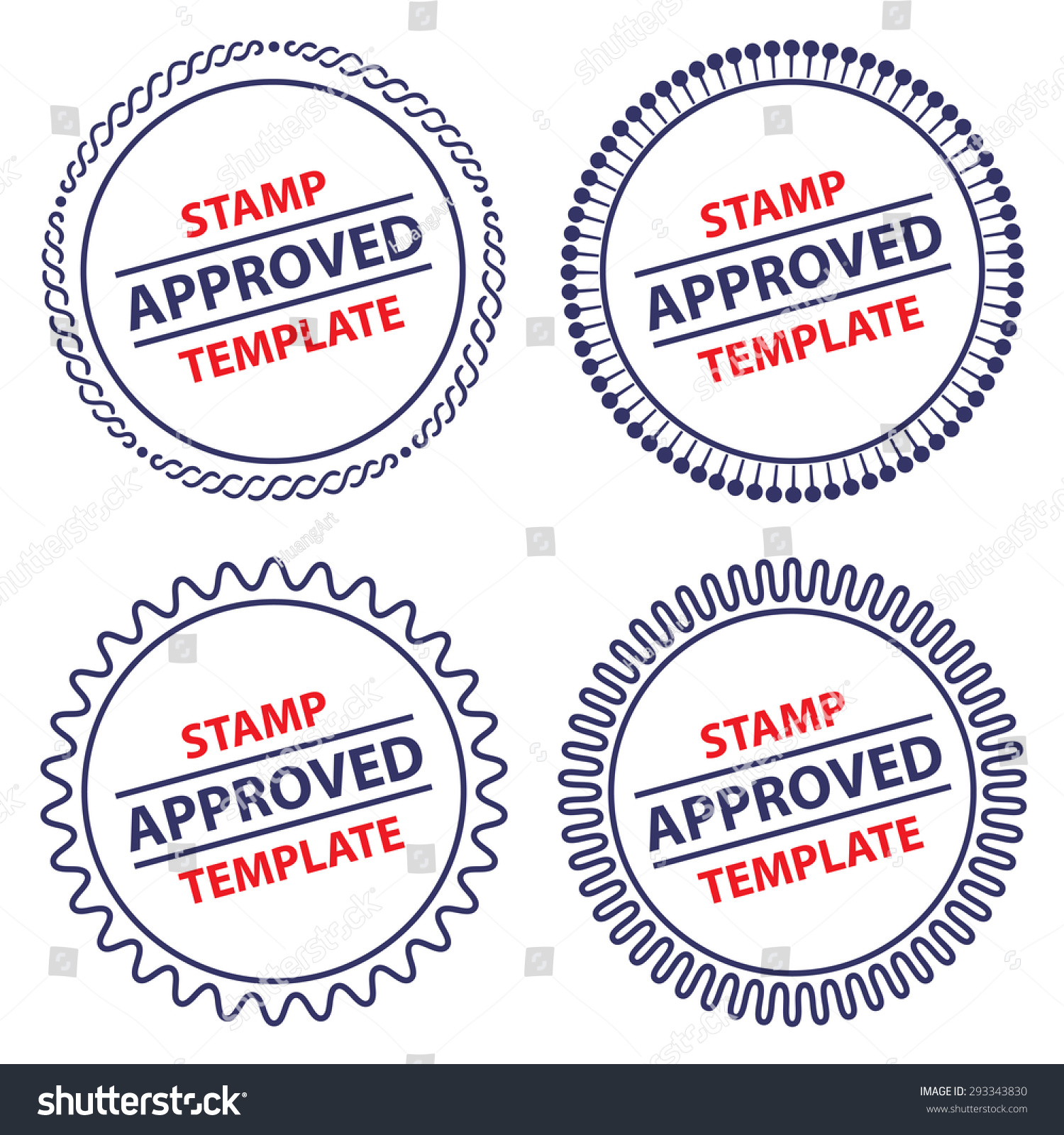 circle stamp template security design stock vector royalty free
