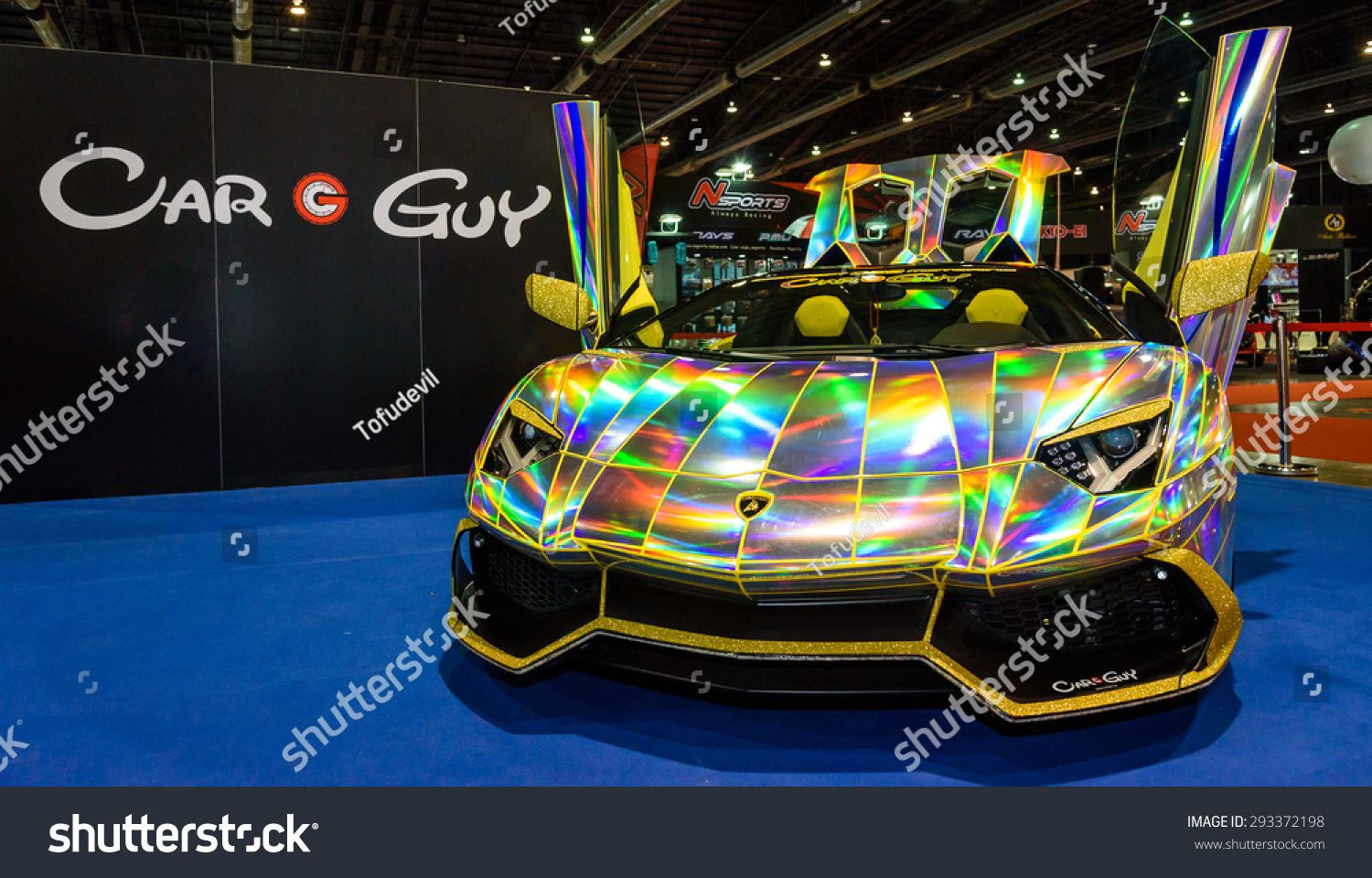 Bangkok June 24 Rainbow Lamborghini On Stock Photo Edit Now