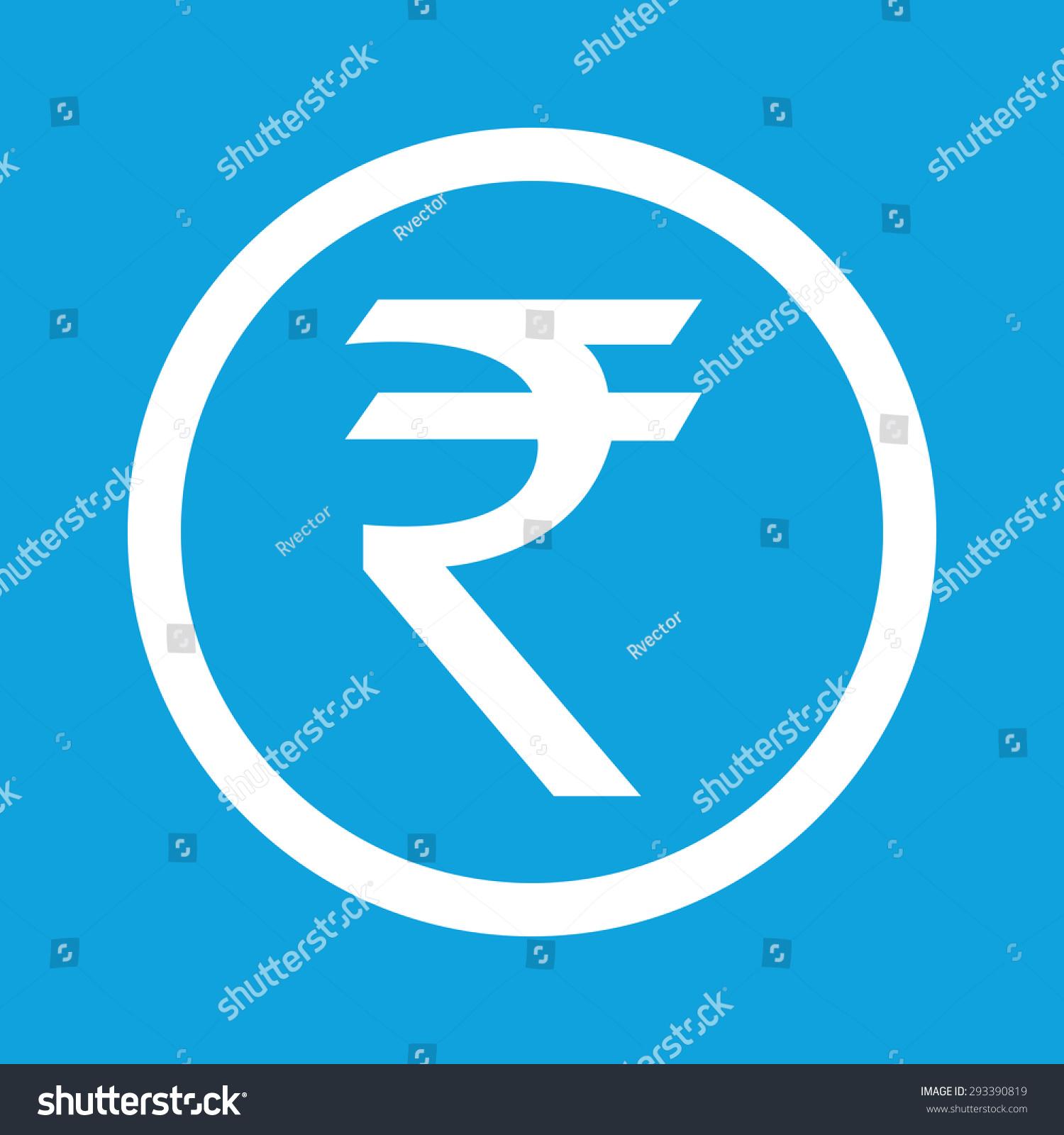 Indian rupee symbol circle isolated on stock illustration indian rupee symbol in circle isolated on blue buycottarizona